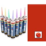 Flame Red Silicone Sealant RAL 3000 310ml
