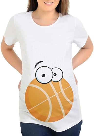 Cinnamou Camiseta Blanca Divertidas Embarazada,Camisetas de Maternidad de Las Mujeres Camisetas Camisetas de Camiseta Linda del Verano del Embarazo ...