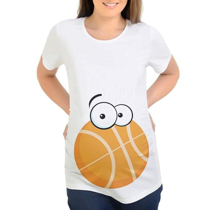 Cinnamou Camiseta Blanca Divertidas Embarazada,Camisetas de Maternidad de Las Mujeres Camisetas Camisetas de Camiseta