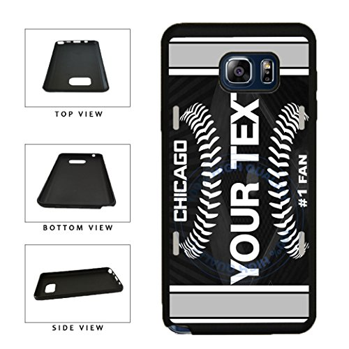 BleuReign(TM) Personalized Custom Name Baseball Chicago Black License Plate TPU RUBBER SILICONE Phone Case Back Cover For Samsung Galaxy S8