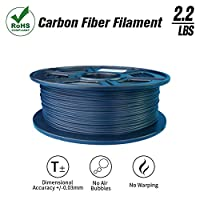 SunTop 3D Carbon Fiber PLA Filament 1.75mm, Rohs Compliance, 1 kg (2.2lbs) Spool, Dimensional Accuracy +/- 0.03 mm by SunTop