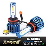 Xprite B2 Series CREE COB LED Headlight Conversion Kit with 6000K White, 8000K Blue Sleeves - 60W 5000lm - H8 H9 H11