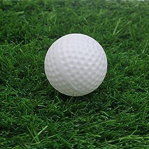 Kofull Durable Plastic Practice Hollow Indoor Golf Ball,pack of 50pcs