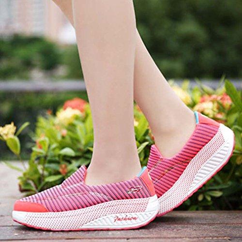 Rojo Para Solshine Zapatillas Mujer Lona De qwX4vw