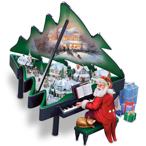Thomas Kinkade Santa's Grand Christmas Musical Sculpture by The Bradford Exchange