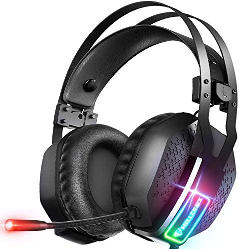 Mifanstech V-10 Gaming Headset for Xbox One Playstation 2 PS4 PS5 PC - 3.5mm Surround Sound, Noise Reduction Game Headphone with Microphone and Volume Control for Laptop, Tablet,Switch Games
