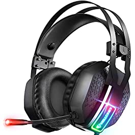 Mifanstech V-10 Gaming Headset for Xbox One Playstation 2 PS4 PS5 PC – 3.5mm Surround Sound, Noise Reduction Game Headphone with Microphone and Volume Control for Laptop, Tablet,Switch Games