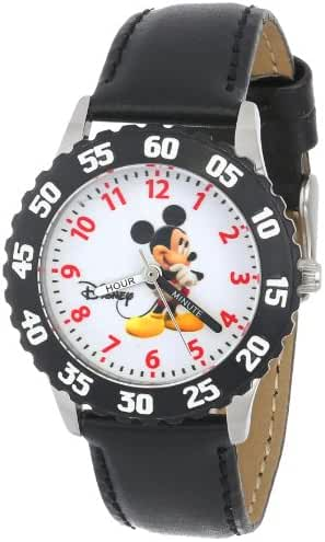 Disney Kids' W000006 Mickey Mouse Stainless Steel Time Teacher Watch