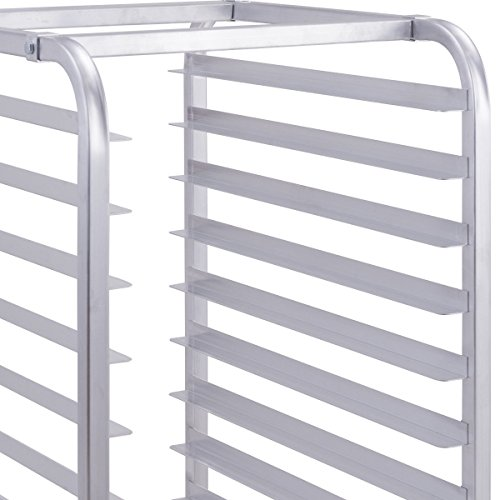 Giantex 10 Tier Aluminum Bakery Rack Home Commercial Kitchen Bun Pan Sheet Rack Mobile Sheet Pan Racking Trolley Storage Cooling Rack w/Lockable Casters by Giantex (Image #6)