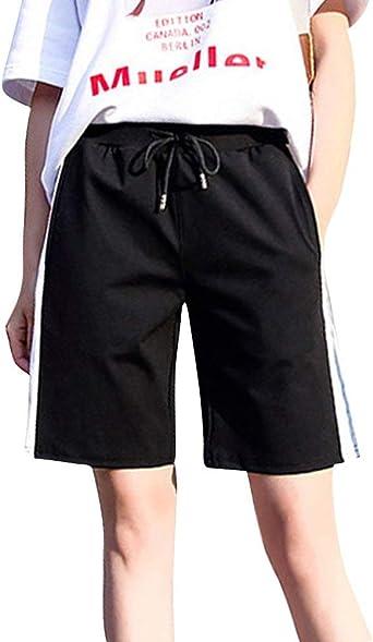 Damas Boyfriend Sport Shorts Mujer Pantalon Casual Pantalones Verano Cortos Ropa Festiva Holgados Pantalones Deportivos Sweatpants Pantalones Cortos Con Elastico Amazon Es Ropa Y Accesorios