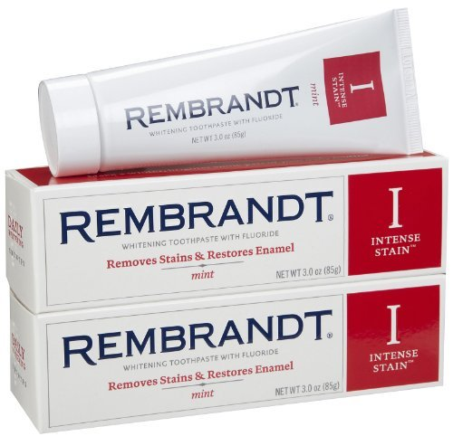 (Rembrandt Intense Stain Toothpaste, Mint, 3 Ounce, 2-pack)