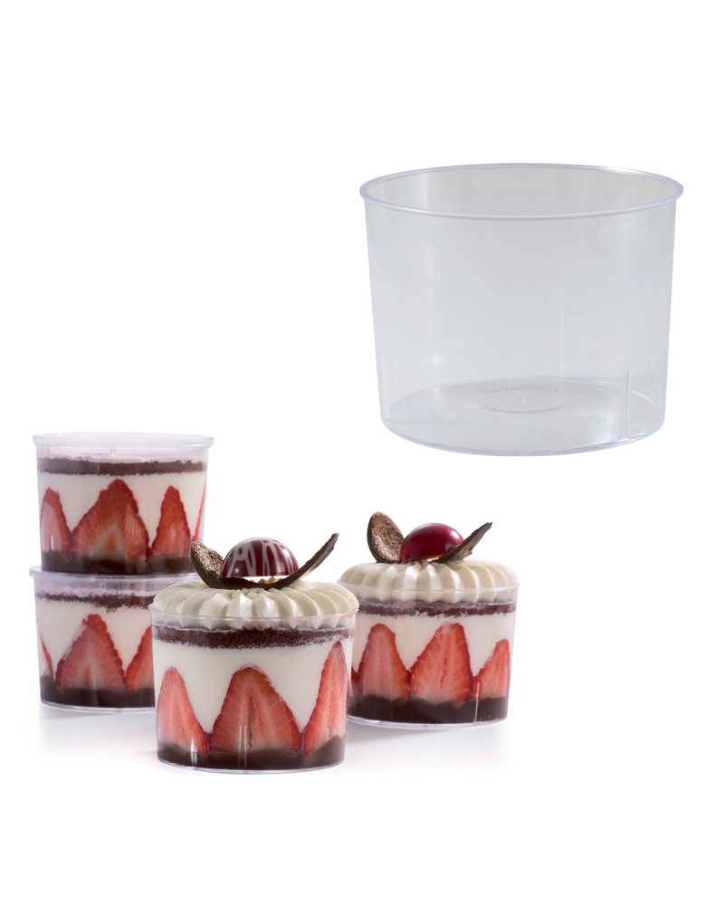 "Martellato 7.1 Oz Dessert Cups 3.07"" Diameter x 2.24"" High, Sold as Pack of 100"