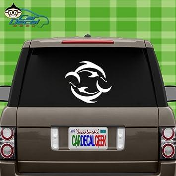 Dolphins Yin Yang Car Bumper Sticker