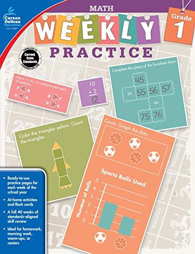 Carson-Dellosa Weekly Practice: Math Workbook, Grade - Dellosa Graphing Carson