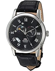 Orient Mens FET0T002B0 Sun and Moon Analog Display Japanese Automatic Black Watch