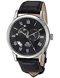 Orient Men's FET0T002B0 Sun and Moon Analog Display Japanese Automatic Black Watch