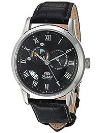 Orient de los hombres fet0t002b0Sol y Luna Llena Analog Display japonés–Reloj automático negro