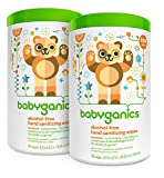Babyganics Alcohol Free Hand Sanitizer Wipes Mandarin 100 Count Deal