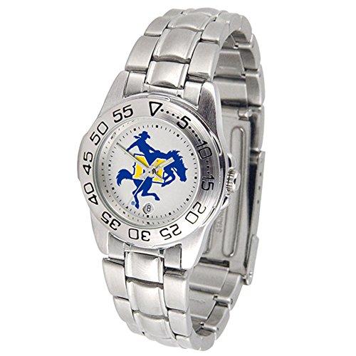 Mcneese State Watch - Linkswalker Ladies Mcneese State Cowboys Ladies' Sport Steel Watch