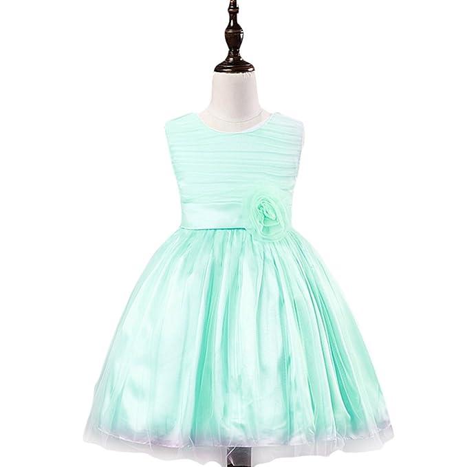 Vestiti Verde Tiffany Bambina.Vkt Vestiti Da Principessa Vestito Da Cerimonia Festa