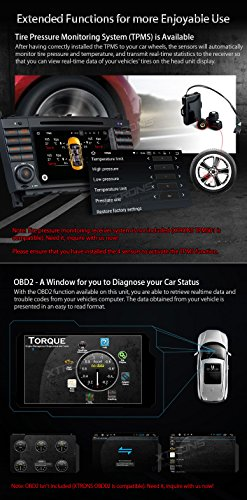 XTRONS Android 6.0 Octa-Core 64Bit 7 Inch Capacitive Touch Screen Car Stereo Radio DVD Player GPS CANbus Screen Mirroring Function OBD2 Tire Pressure Monitoring for Mercedes Benz W203 W209 by XTRONS (Image #7)