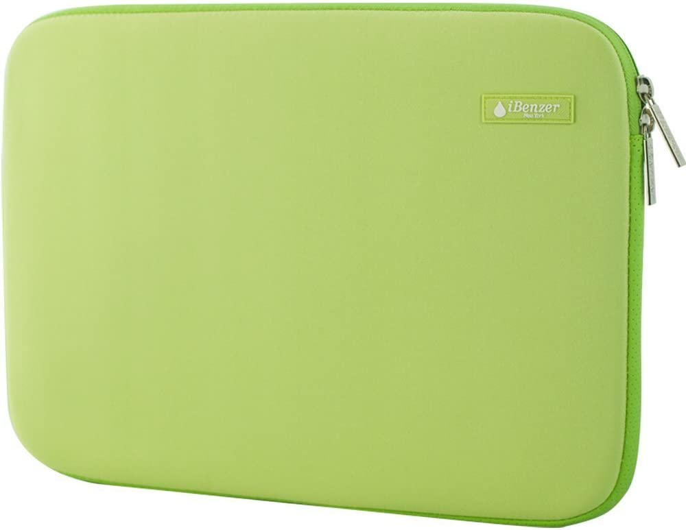 """iBenzer Basic 13.3"""" Deluxe Neoprene Laptop Sleeve Bag Cover Case for MacBook Pro/Air/Retina 13""""/iPad Pro/HP/Acer/Dell/Asus/Samsung UltraBooks, (Green)"""
