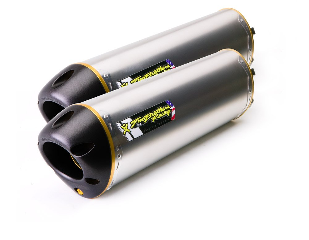 Standard Series M-6 Aluminum Canister Dual Slip-On Exhaust System 005-1590406D Two Brothers Racing