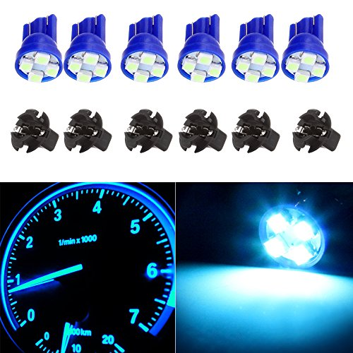 Pontiac Glove Box - cciyu T10 W5W Wedge 168 194 LED Bulbs w/Twist Sockets For Dome Light Step Courtesy Door Light Glove Box License Plate Light Lamp,6 Pack