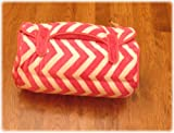 Ozark Mountain Kids Nap Mat - Includes Mat, Blanket, and Pillow - Portable - Machine Washable - Hot Pink Chevron
