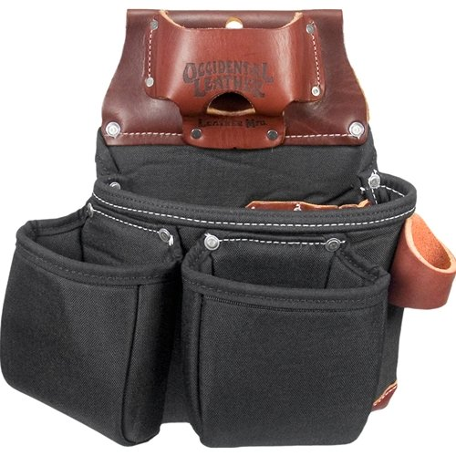Occidental Leather B8018DB OxyLights 3 Pouch Tool Bag - Black by Occidental Leather