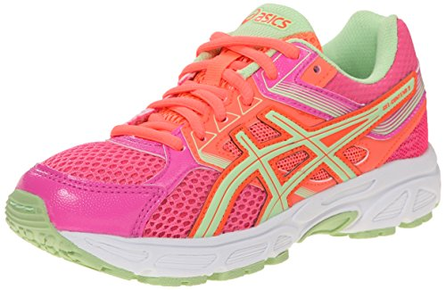 ASICS Gel Contend 3 GS Running Shoe , Hot Pink/Pistachio/Fie