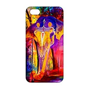 Evil-Store Oil painting colorful elephant 3D Phone Case for iPhone 5s