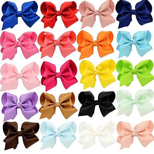 4in Bow - GBATERI 20 Pack Baby Girls 4