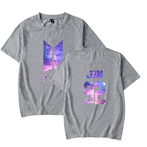 Sport Shirt Tshirt Camicie Collo Corta Maglietta BTS Bluse Donna Young Top Estive Rotondo BTS Floral Grey4 Bloom Boys SUNVOOL T Forever Manica Bangtan KPOP TaFwHHqIx