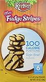 Keebler Right Bites Fudge Shoppe Mini Fudge Stripes 100 Calorie Packs, 6-0.74 oz pouches (1 Box)