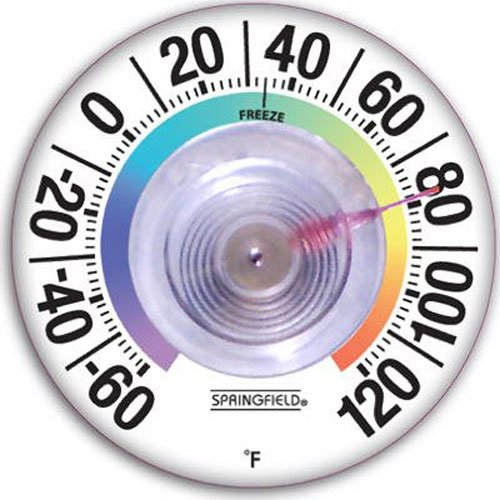 Springfield Suction Cup Thermometer (3.5-Inch) (Exterior Window Thermometer)