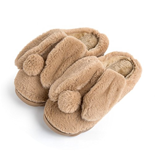 home Cotton thick Slippers indoor men's winter DWW Brown slip warm shoes resistant wear non 4xU8p