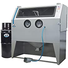 "TP Tools USA 2858 Skat Blast Sandblast Sandblasting Cabinet with HEPA Vacuum, 58""W x 28""D x 28""H Work Area, Made in USA"
