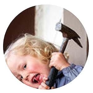 alfombrilla de ratón ¡Peligro! Niño con el martillo - ronda - 20cm