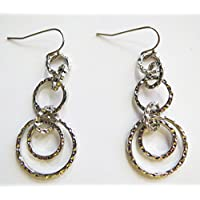 Lia Sophia Avalon Earrings Hammered Silver RV$42