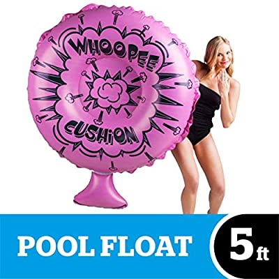 BigMouth Inc. Whoopee Cushion Pool Float – Gigantic Whoopee Cushion Pool Float That Measures Over 4 Feet, Funny Inflatable Vinyl Summer Pool or Beach Toy, Makes a Great Gift Idea: Toys & Games