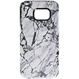 Incipio Samsung Galaxy S7 Case, Marble Design Series Scratch-Resistant Translucent Shock-Absorbing Cover, White/Silver