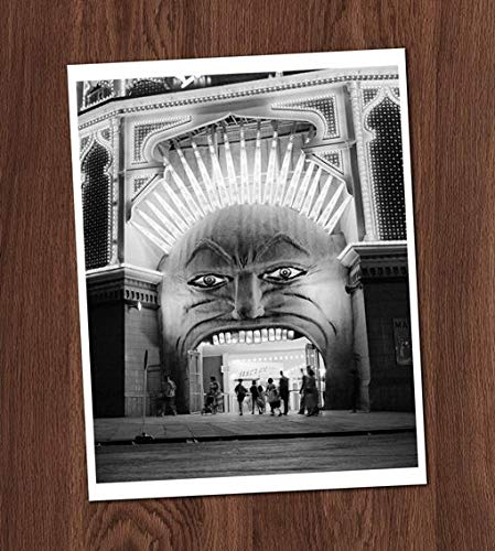 Freaky Weird Theater Entrance Photo Fun House Vintage Art Print 8x10 Wall Art Circus Halloween UNframed for $<!--$12.00-->