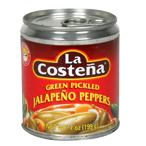 La Costena Green Pickled Whole Jalapeno Peppers, 7-Ounce Cans (Pack of 24) by La Costena