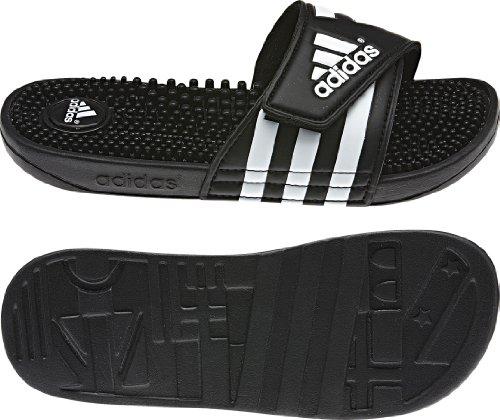 adidas Women's adissage Slide,Black/Black/Running White,6 M US (Adidas Slide Slipper)