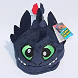 How to Train your Dragon Toothless Night Fury Hat soft Plush Stuffed Animals Cosplay Cap