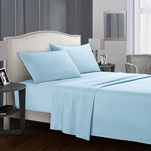 Bed Sheet Set,100% Brushed Microfiber 1800 Luxury Bedding,De