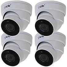 CIB 4xTrue HD 5 Megapixel (2592x1944) Resolution H264 / H265 POE IP67 Weatherproof and Vandalproof DOME Security Network IP Camera (2592 TVL), Wide Angle 2.8mm Lens --- NCJ5M03W-4