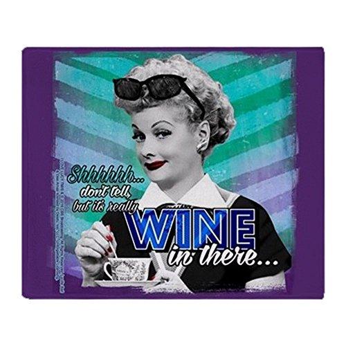 - CafePress I Love Lucy: Wine Soft Fleece Throw Blanket, 50