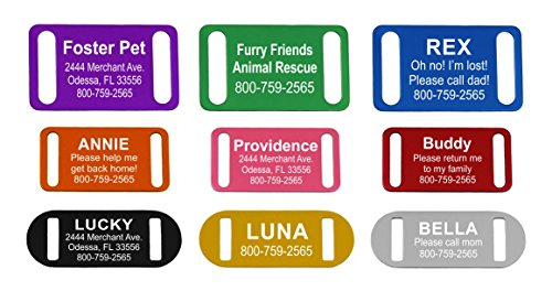 Providence Engraving Slide-On Pet ID Tag/Collar Tag, Small, Pink